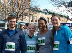 Matthew, Ashley, me and Jaci -- hardcore half marathoners